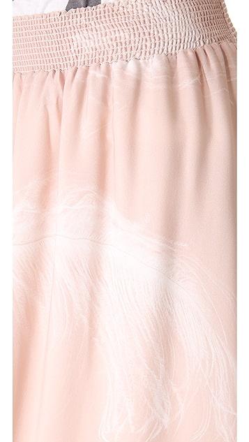 state & lake Feather Print Maxi Skirt