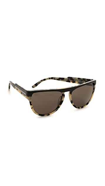 Stella McCartney Flat Top Oversized Sunglasses
