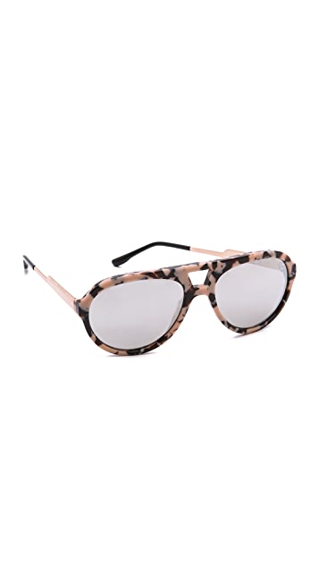 Stella McCartney Mirrored Aviator Sunglasses