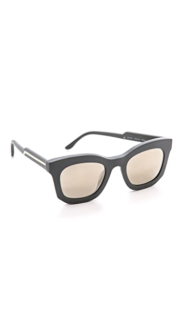 Stella McCartney Mirorred Thick Frame Sunglasses