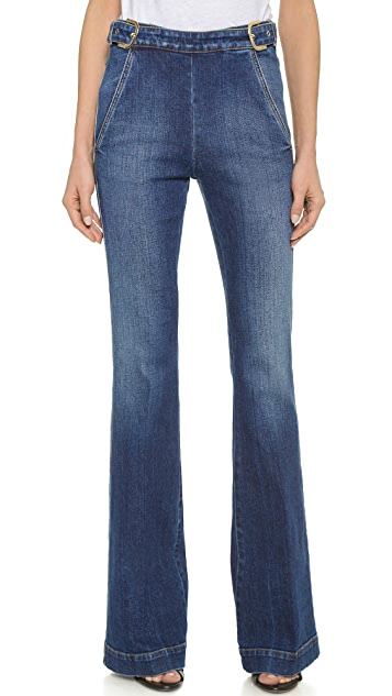 High-Waisted Kick Flare Jeans Stella McCartney View Cheap Price Utjbc