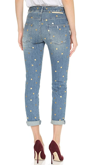 Stella McCartney Metallic Polka Dot Tomboy Jeans