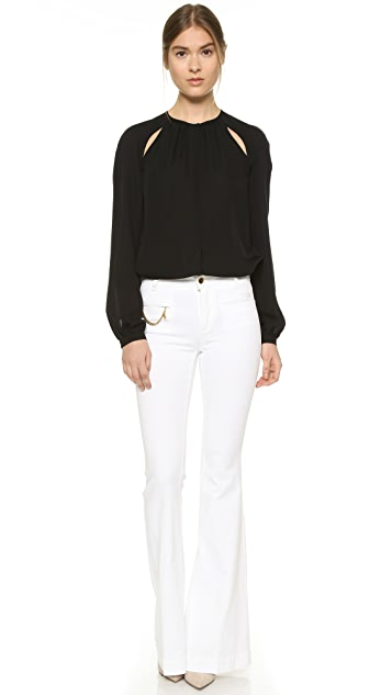 Stella McCartney The '70s Flare Falabella Chain Jeans