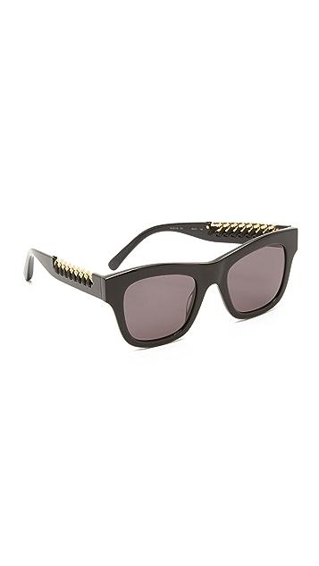 ffb2c46d2431f Stella McCartney Chain Square Sunglasses