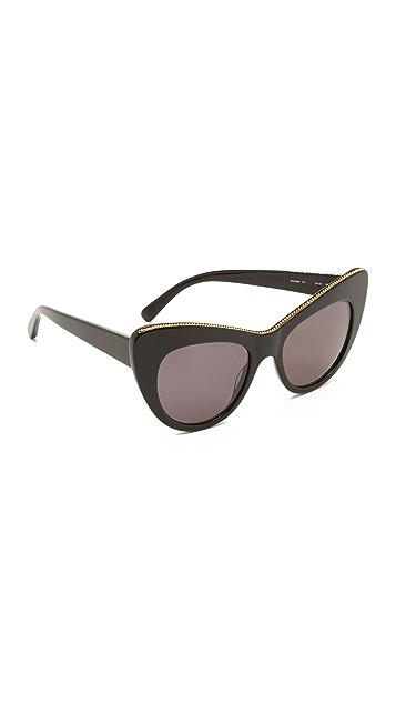Stella McCartney Солнцезащитные очки «кошачий глаз» с цепочкой