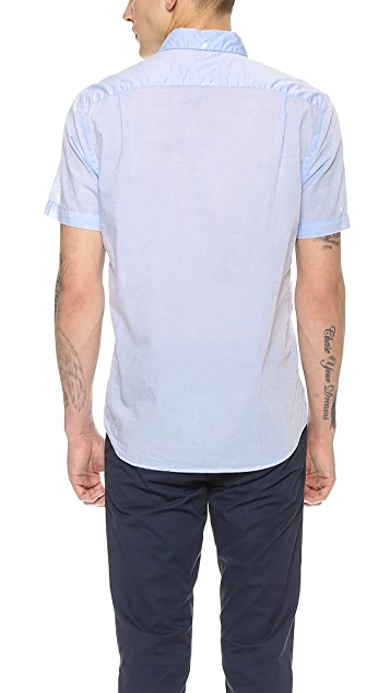 Steven Alan Striped Short Sleeve Shirt
