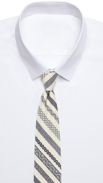 Steven Alan Patterned Stripe Skinny Tie