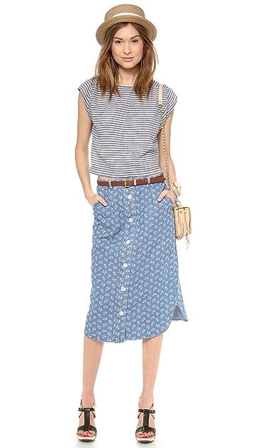 Steven Alan Button Down Skirt