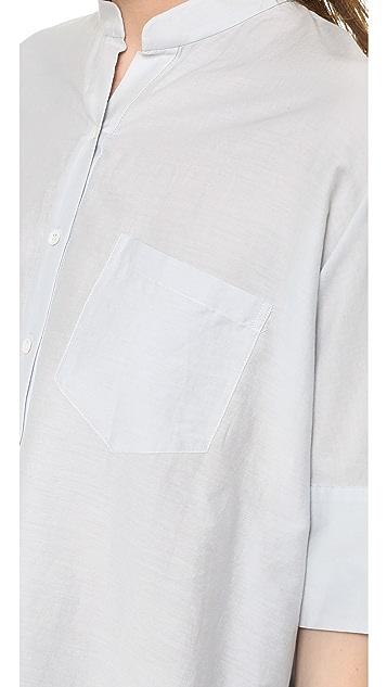 Steven Alan Oversized Stand Collar Shirt