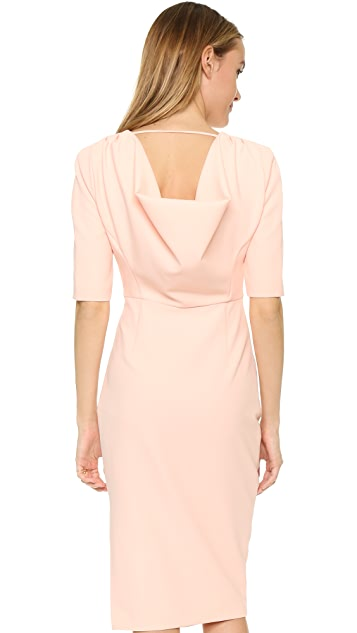 ST Olcay Gulsen Tailored Drape Dress