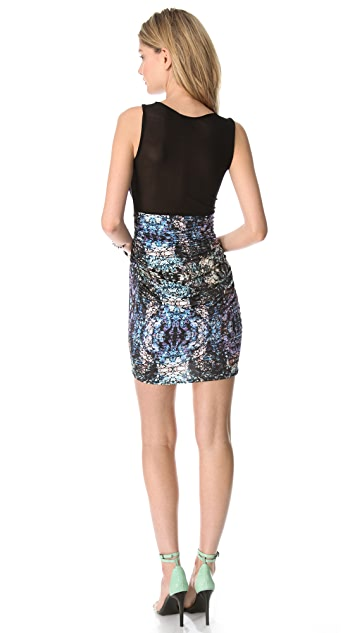 STYLESTALKER Fractal Bodycon Dress