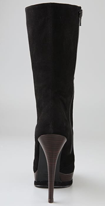 Stuart Weitzman Nogoth Suede Lace Up Boots