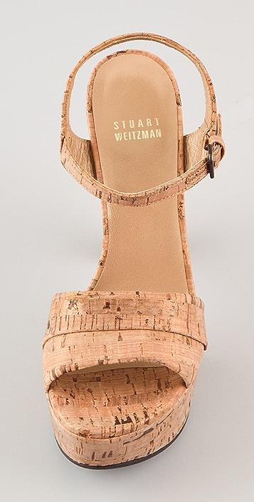 Stuart Weitzman Once Cork Sandals