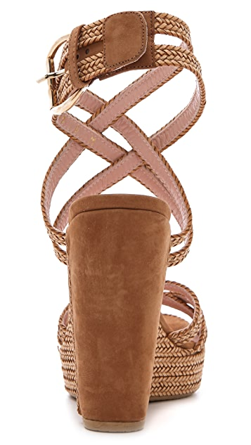 Stuart Weitzman Reins Wedge Sandals