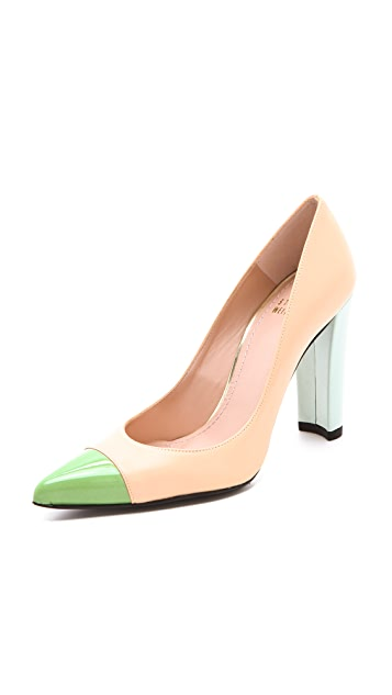 Stuart Weitzman Naughty Cap Toe Pumps