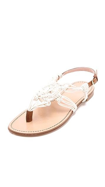 Stuart Weitzman Alfresco Macrame Sandals
