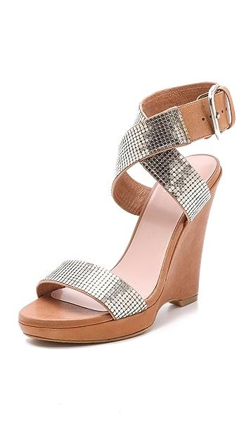 Stuart Weitzman Metalmania Chainmail Sandals