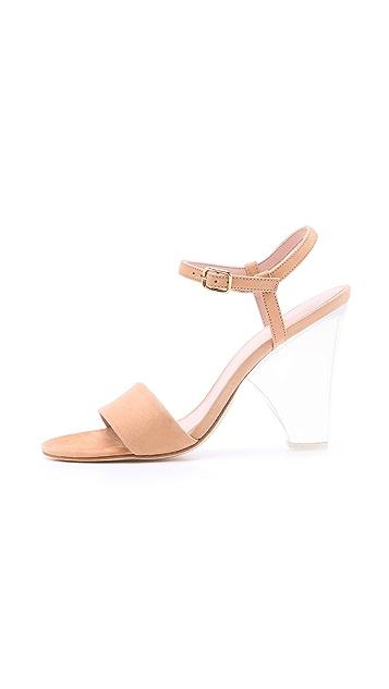 Stuart Weitzman Theone Lucite Heel Sandals