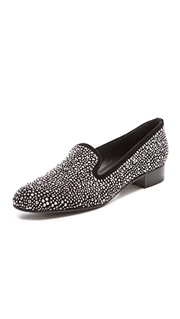 Stuart Weitzman Studded Smoking Shoes