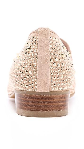Stuart Weitzman Slipbeads Studded Loafers