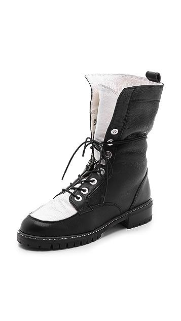 Stuart Weitzman Workout Lace Up Boots