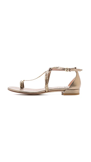 Stuart Weitzman Shackle Chain Flat Sandals