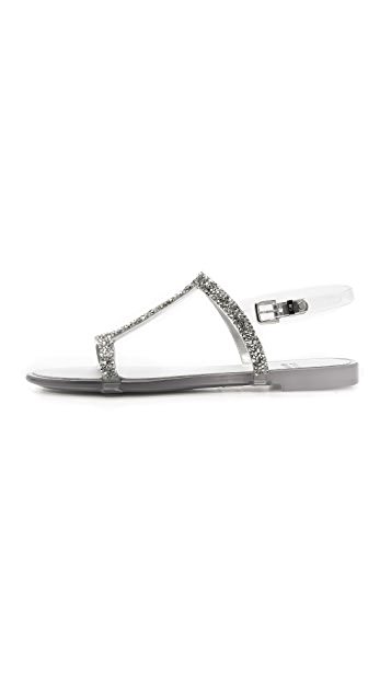 d8a0a1fe8c9 ... Stuart Weitzman Teezer Glitter T Strap Jelly Sandals ...