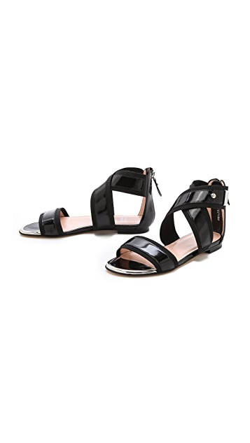 Stuart Weitzman Expo Flat Sandals