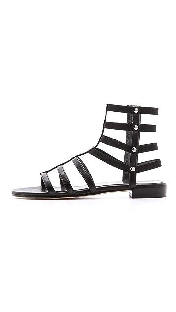 Stuart Weitzman Caesar Flat Gladiator Sandals
