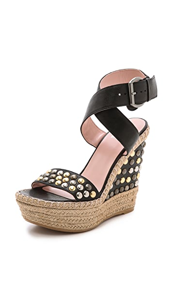 Stuart Weitzman Hubcapsbullets Sandals