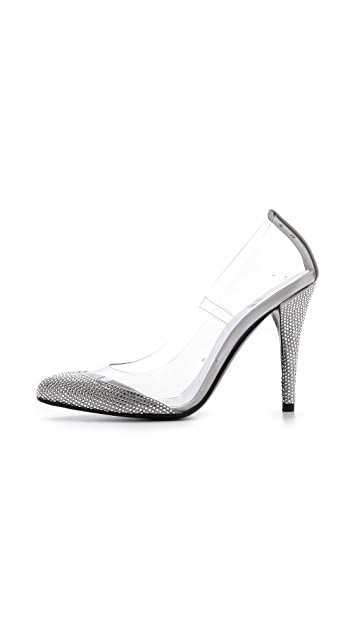 Stuart Weitzman Cindy Crystal Pumps