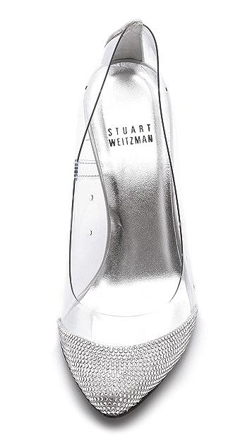 Stuart Weitzman Cindy Crystal Pumps