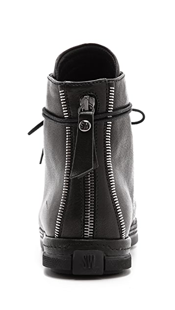 Stuart Weitzman Zipit High Top Sneakers