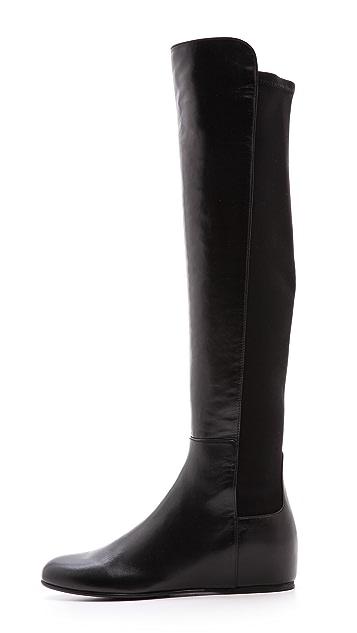 Stuart Weitzman Mainline Hidden Wedge Boots