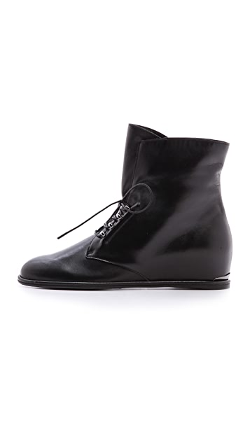 Stuart Weitzman Step Across Hidden Wedge Booties