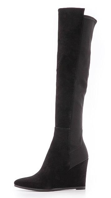 Stuart Weitzman Demivoom Wedge Stretch Boots