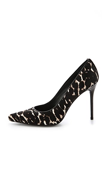 Stuart Weitzman Pipe Nouveau Haircalf Pumps