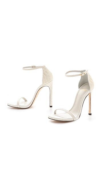 Stuart Weitzman Nudist Single Band Sandals