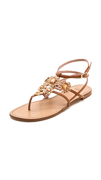 Stuart Weitzman Jewel-Embellished Metallic Sandals buy cheap free shipping best seller for sale 4Iy8Nk8lt