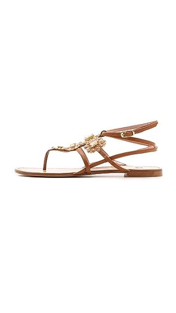 Stuart Weitzman Artisan Embellished Sandals