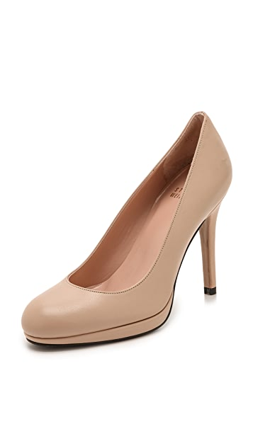 Stuart Weitzman Swoon 90mm Leather Pumps