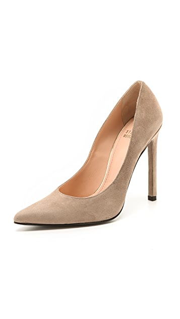 clearance genuine limited edition for sale Stuart Weitzman Suede Cutout Pumps cheap price top quality UbtXqV