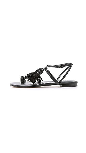 Stuart Weitzman Tasselites Flat Sandals