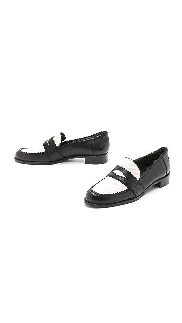 Stuart Weitzman School Days Croc Loafers