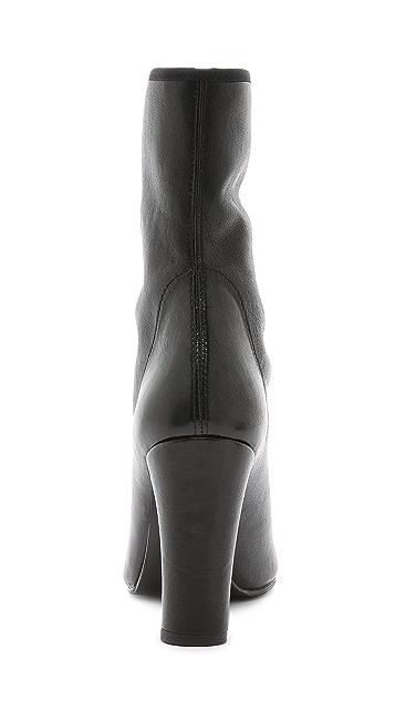 Stuart Weitzman Front Zip Booties