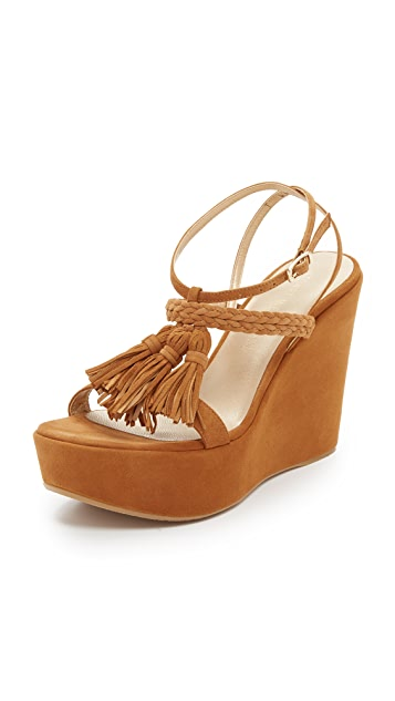footlocker pictures sale online low price fee shipping cheap online Stuart Weitzman Tassel-Accented Suede Sandals cheap geniue stockist zqFQPO