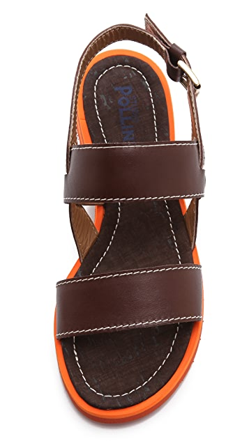 Studio Pollini Contrast Sole Sandals