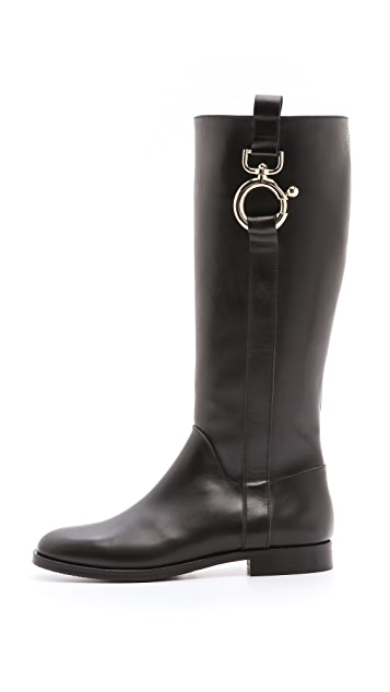 Studio Pollini Hardware Riding Boots