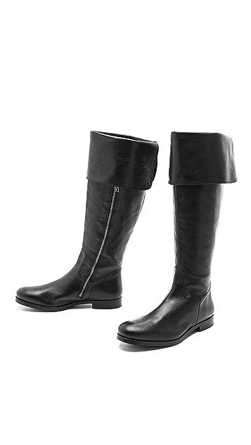 Studio Pollini Tall Flat Cuff Boots