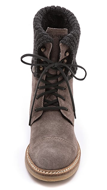 Studio Pollini Cuff Lace Up Booties